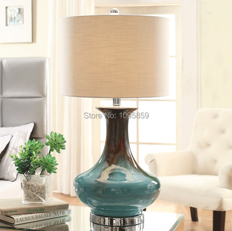 modern dining room blue gourd ceramic table lamps lights