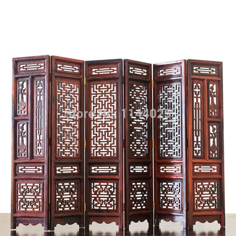 Mahogany Mini Decoration Screen Chinese style Desktop Screen Hand Made Furniture Model High quality Rosewood Crafts Home decor(China (Mainland))