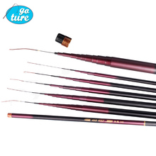 Free Shipping carbon streams 7.2M pure carbon fishing rod telescop winter casting fishing rod