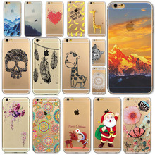 Free Shipping Phone case For iPhone 6 Transparent Soft Ultra Thin Back Cover Santa Claus And Christmas Reindeer WHD1533 1-14