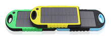 Solar panel portable charge waterproof &skidproof 5000Mah solar power bank charger for outdoor sport xiaomi power bank