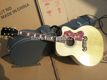 2017 New + Guitar Factory + Chinese Made GB J200 NA cutaway Acoustic, Jumbo 43 inch full copy with official logo on headstock(China (Mainland))