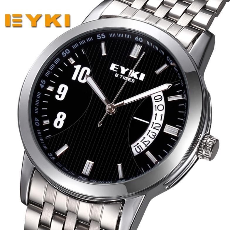2014 new fashion women men sports watches full steel watch luxury brand eyki wistwatches calendar waterproof clock relogio<br><br>Aliexpress