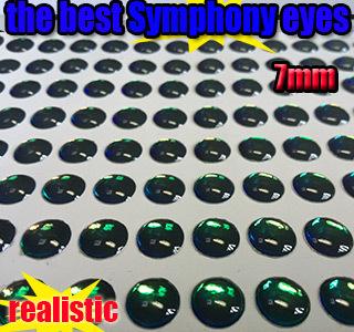 2015new fishing lure eyes symphony eyes the best fly eyes size:7MM quantity:500pcs/lot(China (Mainland))