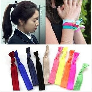 Strong elastic string tied hair band(China (Mainland))
