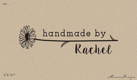 Custom Logo 2.5x1 inch Personalized Rubber Stamp handmade by sunflower stamp(China (Mainland))