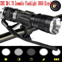 Гаджет  Hot Sale Free Shipping Tactical Flashlight Belt Clip Lamps CREE XML-T6 LED 2000 Lumen 5 Mode Switch Battery 18650 Attack Head  None Свет и освещение