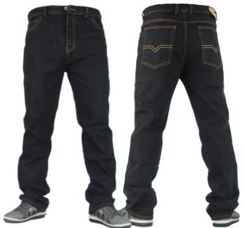 Очень большой мужчины в свободного покроя одежда джинсы вилочная часть длинная брюки ...
