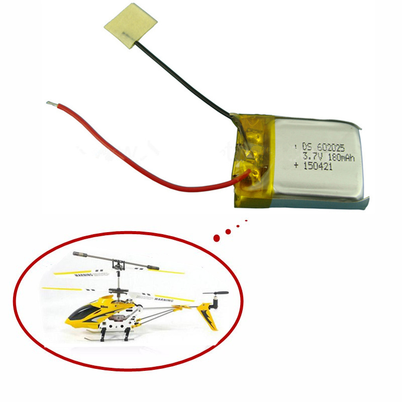 3.7V 180mAh Lipo Battery for Syma S107 S107G Skytech M3 m3 Replacement Spare Parts for Syma Skytech RC Helicopter(China (Mainland))