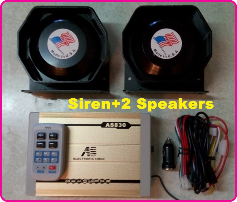 America design High quality 300W Dual Tone Police siren ambulance fire wireless siren alarm warning siren+ 2pcs 150W loudspeaker(China (Mainland))
