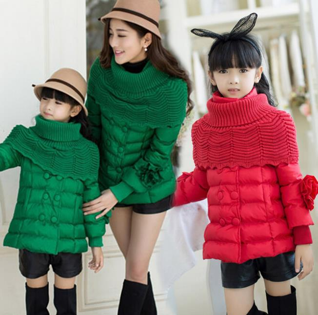 2014 Winter Down and Parkas Family Coat Parent-Child Set Clothes for Mother &amp; Daughter Women Down Jackets Girls Down Parka BL71<br><br>Aliexpress