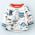 Little maven children brand clothing 2016 autumn fashion boys girls cotton long sleeve O neck dinosaur
