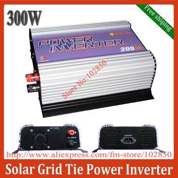 Free Shipping 300W Solar Power Grid Tie Inverter DC 10.8-30V/22-60V input,CE certificate,MPPT Function
