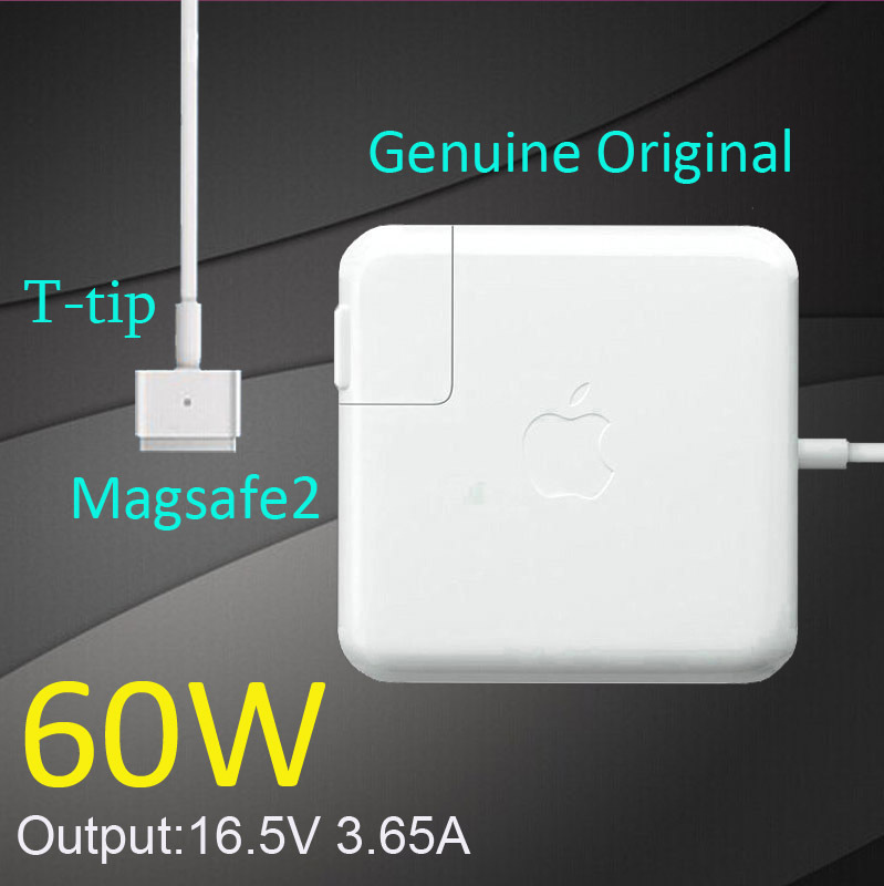 "New Oirginal 60W magsafe 2 with T tip 16.5V 3.65A power adapter charger for apple Macbook pro Retina display 13""after 2012(China (Mainland))"