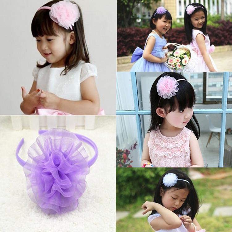 children's hair clip Flowers sweet head band Rural cute girls hair accessories(China (Mainland))
