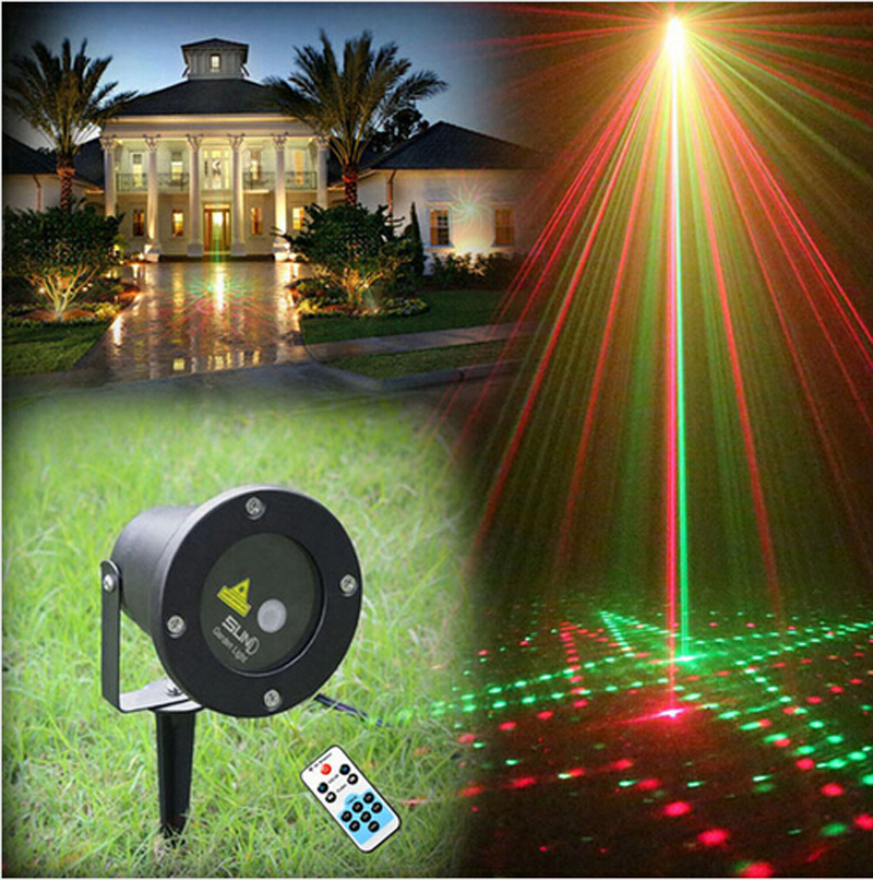 Remote control 20in1 rg waterproof latest elf laser light for Outdoor decorative lights