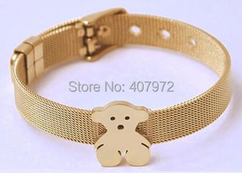 Новый 2015 женщины медвежонок браслет милый медведь цепи браслеты t1979 любовь медведь браслет