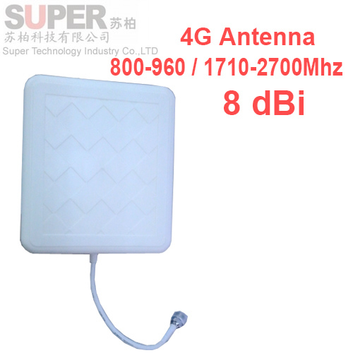For russia 8dbi gain 4G antenna 698-2700Mhz LTE panel antenna GSM outdoor panel antenna,WCDMA booster LTE Directional antenna 4G(China (Mainland))
