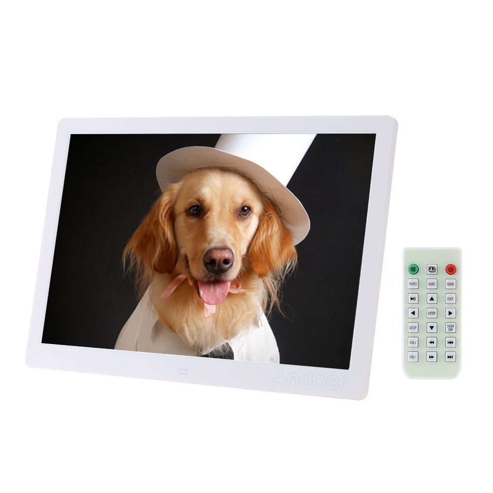 """15.6"""" LED Digital Photo Frame 1280*800 High Resolution With Alarm Clock MP3 MP4 Movie Player with Remote Control Christmas Gift(China (Mainland))"""
