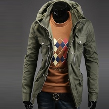 High quality men's winter jacket coat thicken warm overcoat jacket England style slim fit jacket