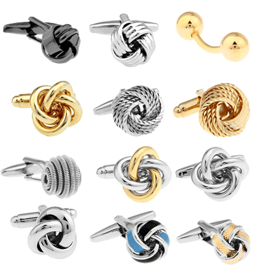 Free shipping Black Cufflinks for men fashion knot design top quality copper hotsale cufflinks whoelsale&retail(China (Mainland))