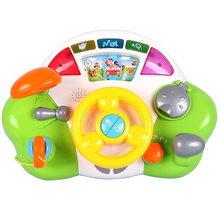 2014 New baby educational toys big car steering wheel toy infant baby toys child driving toys for birthday gifts TY08(China (Mainland))