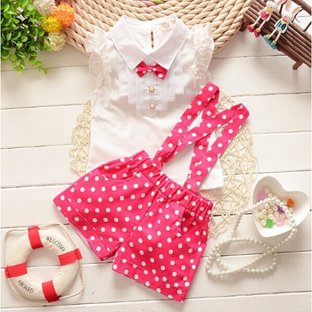 New 2016 summer baby girls clothing sets childern chiffon plaid sleeveless t-shirt+pant suits set baby girls kids clothes suit
