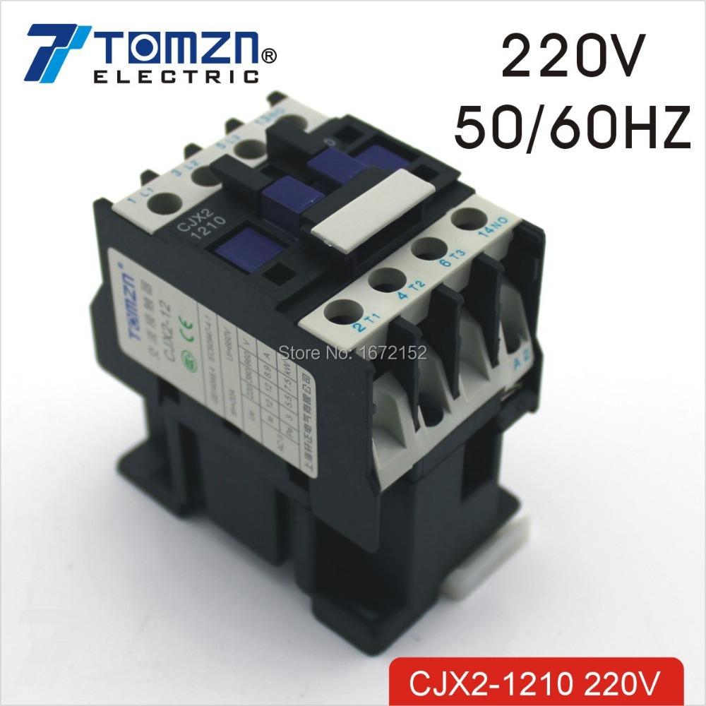 Замыкатель TOMZN CJX2 1210 AC LC1 12 220V 50 /60 CJX21210 ac contactor lc1f115 lc1 f115 lc1f115q7 380v lc1f115r7 440v lc1f115u7 240v lc1f115v7 400v