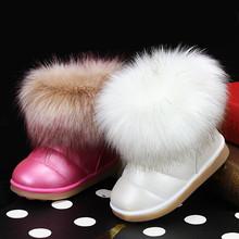 Chicas de Moda de invierno botas de nieve zapatos calientes de la felpa suave inferior baby girls botas cómodas niños cargador de la nieve de invierno de cuero niñas zapatos(China (Mainland))