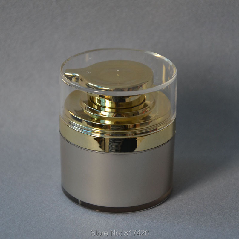 Free Shipping- 50ml airless jar,acrylic jar,cream jar,acrylic bottle(China (Mainland))