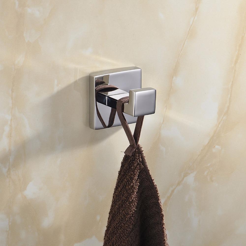 2016 Lithe Deluxe SUS 304 Stainless Steel Towel Hooks Wall Mount Circular Towel Robe Coat Hook Hat Door Hanger Mirror Polished(China (Mainland))