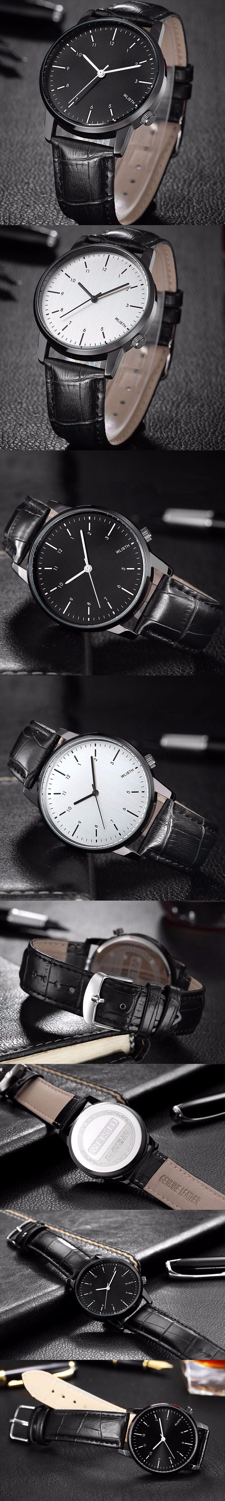 WLISTH Watch Men 2017 Casual Clock Top Brand Luxury Quartz Wrist Watches Male Wristwatch Quartz-Watch Relogio Masculino hodinky