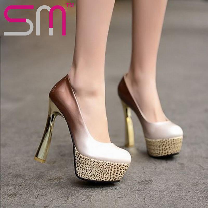 Plus Size 33-44 platform gladiator summer platform pumps leopard print thin heels wedding pumps for women 2015 bar pumps(China (Mainland))