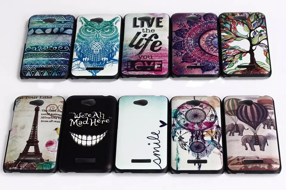 Hard PC Plastic Painted Phone Case Capa For HTC Desire 616 Colorful Style Cartoon Lovely Pattern Dream Catcher Fundas Coque(China (Mainland))