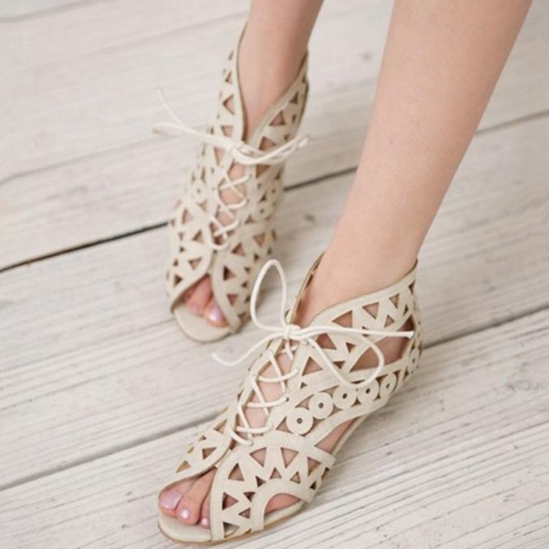 Big size 34-43 Summer stylish fashion women open toe wedge heel sandals ladies black yellow white shoes(China (Mainland))