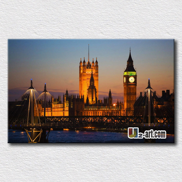 London big ben wallpaper famous place canvas prints beautiful and interesting picture for wall decoration(China (Mainland))