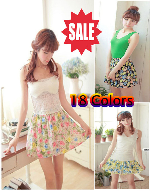 Free shipping 2013 Summer Korean chiffon skirts package hip new career high waist floral skirt pleated skirt tutu