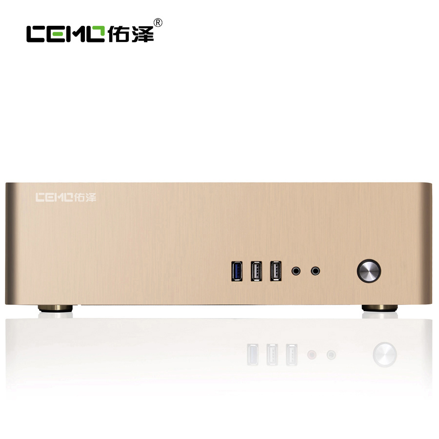 Aluminum computer case small horizontal mini itx for htpc chassis Color Category Black Silver Gold(China (Mainland))