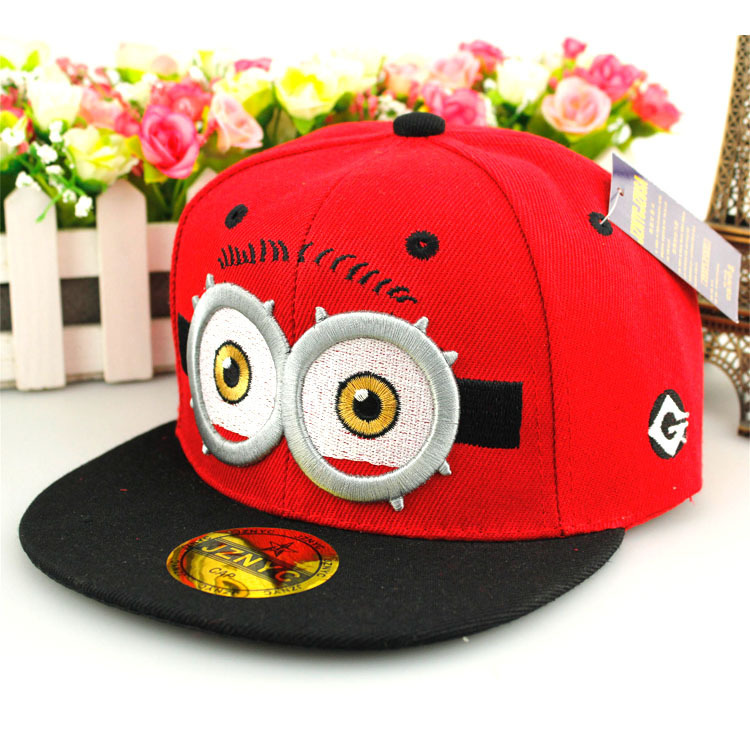 New Arrival Fashion Hip Hop Sport Casual Hat Despicable Me Pattern For Children Gift free shipping(China (Mainland))