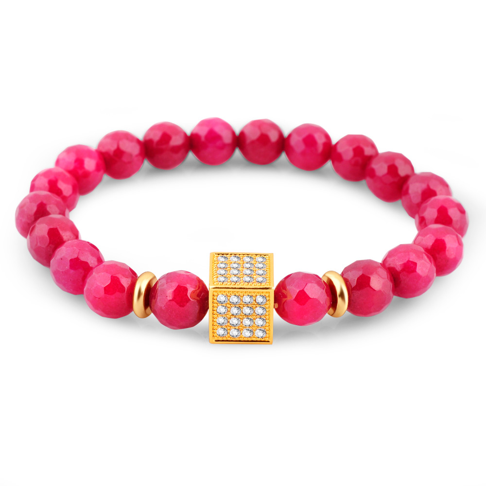 Fashion brand high quality crystal and red coral stone beads bracelet for woman wedding jewelry bracelets Pluseras gift hot sell(China (Mainland))