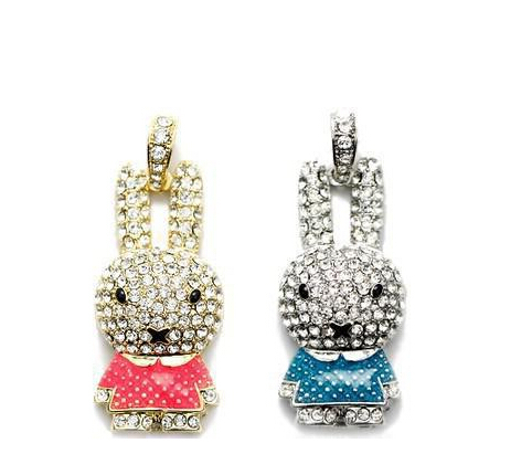 Bulk pen drive jewelry usb disk Rabbit escape 8gb 16gb 32gb Bar diamond usb flash drive pendrive free shipping(China (Mainland))