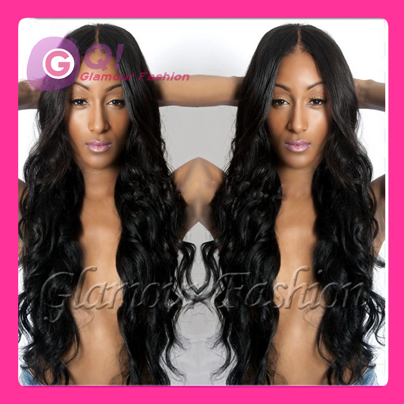 Фотография GQ 2016 New Malaysian virgin human hair u part wig wave glueless full lace wigs 100 human hair lace front wigs for black women