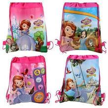 20pcs\lot DOC mcstuffins \ monster high school bag partgift for children ,for kid's,cartoon drawstring backpack,schoolbag,(China (Mainland))
