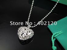 Free Shipping Promotion 925 Sterling Silver Jewelry hollow heart Necklace Brand New ,925 necklace(China (Mainland))