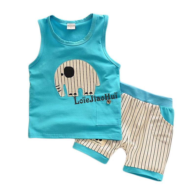 2016 Cartoon Mickey Summer Baby font b Boy b font Girl font b Clothing b font