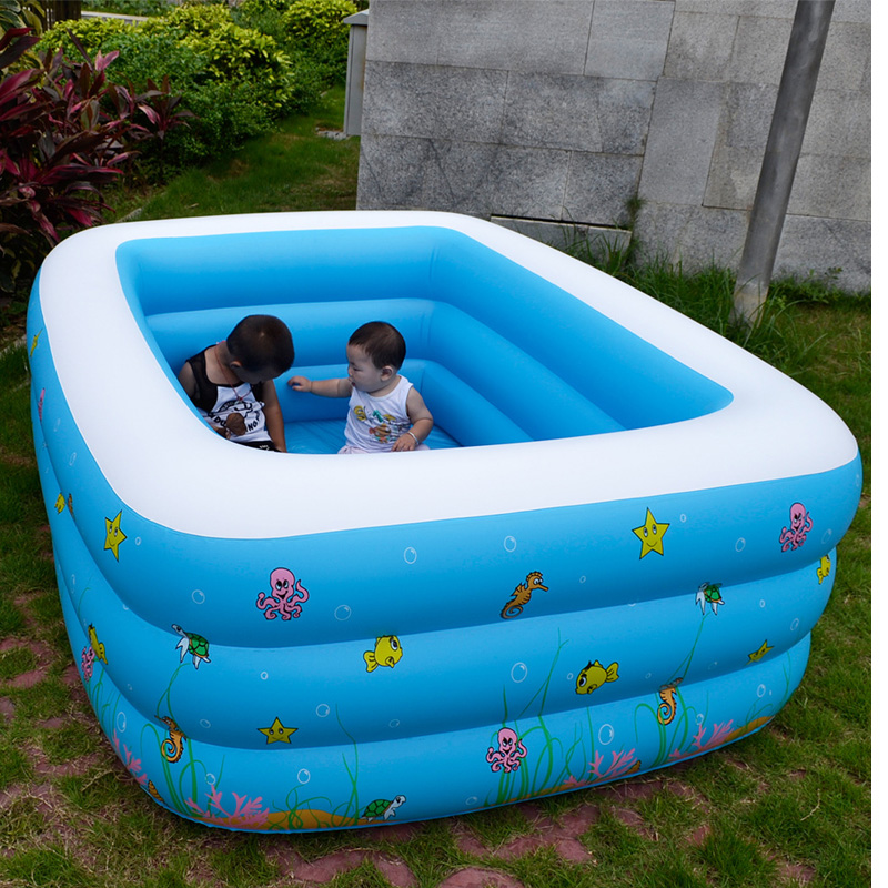 Outdoor summer family inflatable pools square pvc piscina - Swimming pool accessories for adults ...