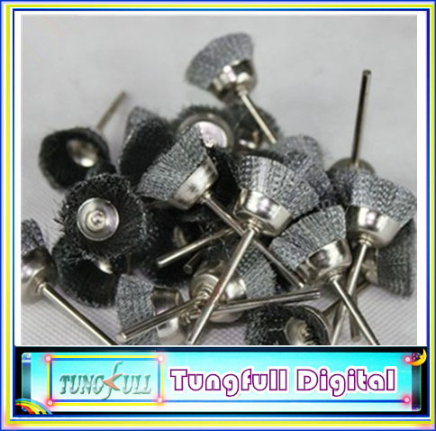 10Pcs Steel Wire Cup Brush for Dremel Rotary tools Die Grinder<br><br>Aliexpress