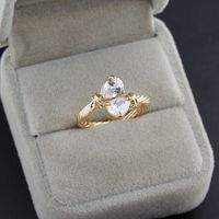 Styles Of Gold Plated Elegant Rhinestone/ Clear Crystal Lover Ring For Jewelery Gift 63120