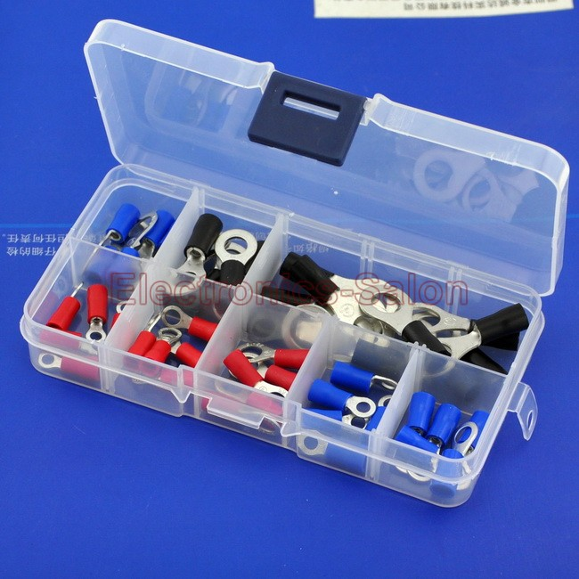 9 Types Ring Crimp Wire Terminal Assortment Kit, Connector, Vinyl-Insulated.<br><br>Aliexpress