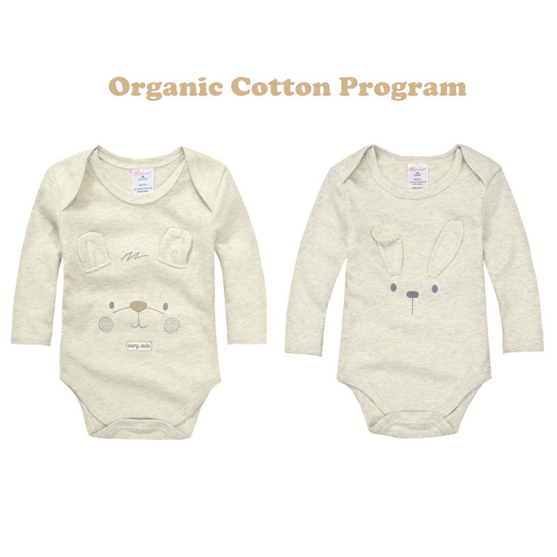 Organic Cotton Baby Boy Girl Long Sleeve Romper Cute One Pieces Cute Clothes Jumpsuits Roupas De Bebe Infantil Baby Clothing(China (Mainland))